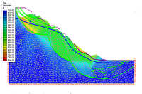Mathematical simulation in the areas of the development of dangerous geological processes